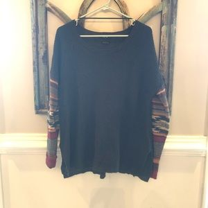 Miss Me moss green slouchy sweater.